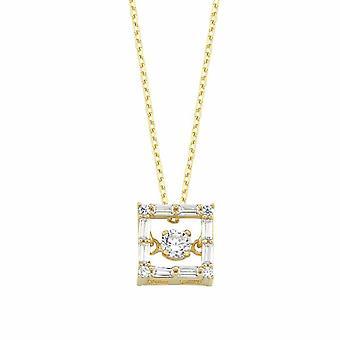 Quadratische Gold Halskette