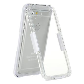 For  iPhone 8 & 7  Professional and Powerful Dustproof Shatter-resistant Shockproof Life Waterproof Protective Case with Lanyard(White)