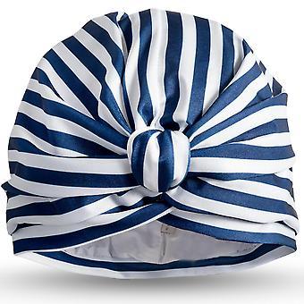 Stripey Blue Shower Turban