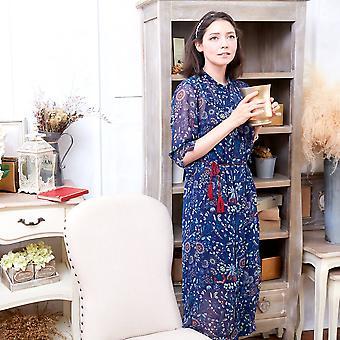 ماما & لي فستان الأزهار tunic