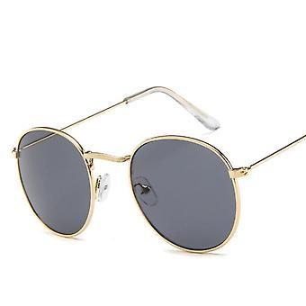 Retro Oválné sluneční brýle ženy malé zlaté černé vintage retro sluneční brýle žena