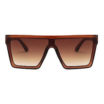 Clássico Vintage Square Siamese Oversized Sunglasses/men