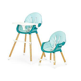 Hochstuhl - Essstuhl - verstellbar - blau - 60x55x92 cm
