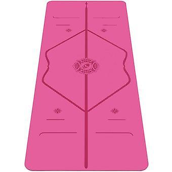Liforme Gratitude Travel Yoga Mat- Patented Alignment System (Pink)