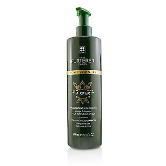 5 Sens forbedre shampoo hyppig brug, alle hårtyper (salon produkt) 220127 600ml/20.2oz