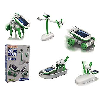 6 In 1 educational 'do it yourself kit' solar kit to build robot toy car plane puppy airboat windmil