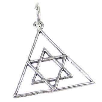 Star Of David Sterling Silver Charm - Pendant .925 X 1 Pendants Jewish - 2643