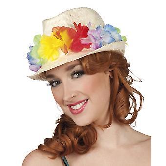 Hat Aruba With Flower Wreath One Size