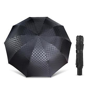 Double Layer Big  Rain Folding Umbrella