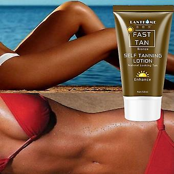50ml Sunless Self Tanning Lotion Bronze Quickly Coloring  Face Body Natural Tan