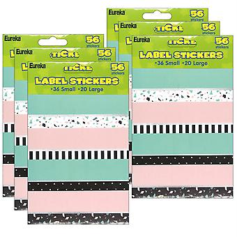 Simply Sassy Sticker Labels, 56 Per Pack, 6 Packs