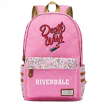 River Valley Town Youth Schoolbag Floral Floral Casual Mochila Casual