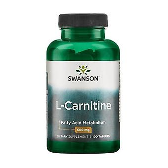 L-Carnitine, 500mg 100 tablets