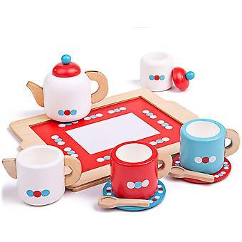Bigjigs Toys Wooden Tea Tray Play Set