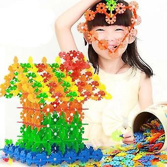 3d Jigsaw plástico copo de nieve modelo puzzle inteligencia educativa