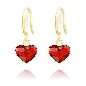Siam 24k gold heart earrings