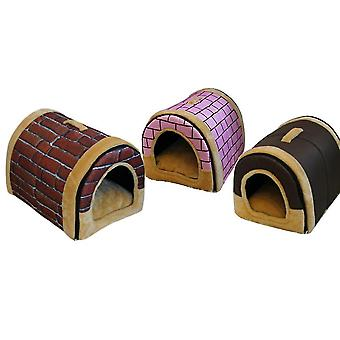Curved Kennel Cat Litter Dog House Dual-use Removable And Washable Mattress Factory Direct Wholesale Portable Dog Cage