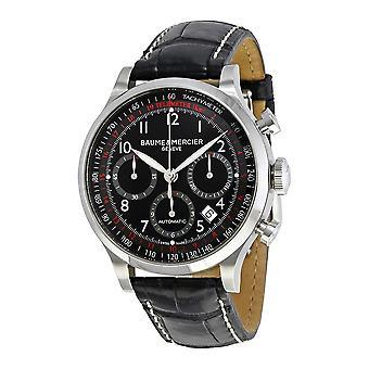 Baume and Mercier Capeland Black Dial Men's Watch 10084