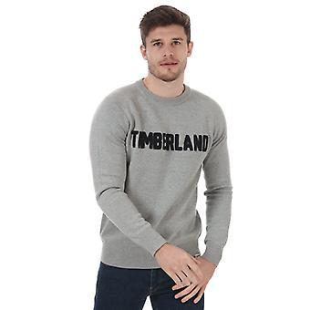 Timberland Logo Crew svette i grått for herre