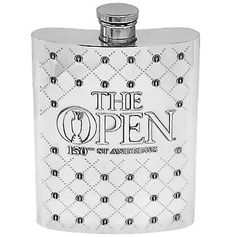The 150th Open 6Oz Pewter Hip Flask