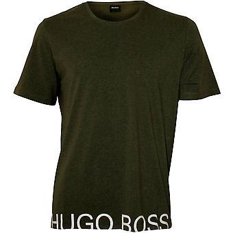 צוות לוגו זהות בוס-חולצת חולצת צוואר, חאקי/לבן