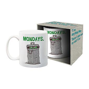 Sesame street - mondays ceramic mug