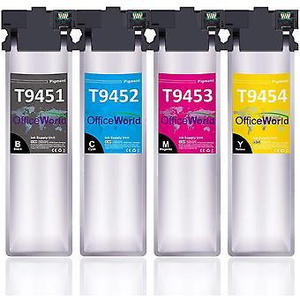 FengChun T9451-T9454 Tinte Ersatz fr Epson T9451 T9452 T9453 T9454 Patronen Kompatibel mit Epson
