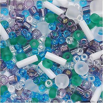 Toho Monimuoto lasi vatsoja 'Fuji' valkoinen / vihreä / sininen / violetti väri mix 8 gramma putki