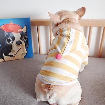 Hanorac cu dungi de vară pentru îmbrăcăminte pentru animale de companie
