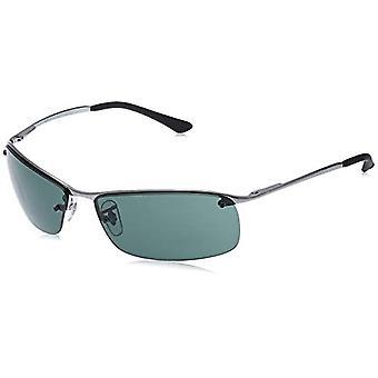 راي بان -- نظارات RB3183 أعلى شريط مستطيلة ، رمادي (004/71 Gunmetal)