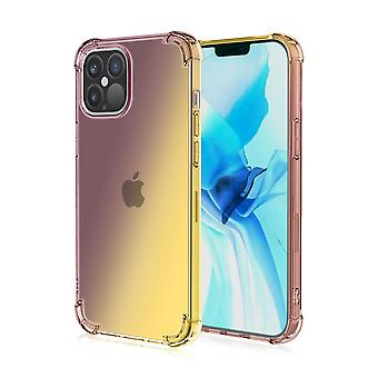Soft tpu case for iphone xs max shockproof gradient black&golden