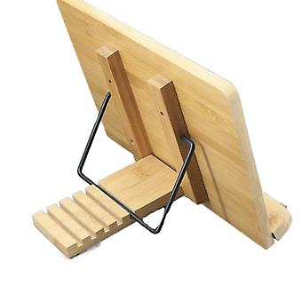 Kirjahyllyn oppimishylly Säädettävä kirjanpidin Bambu Keittokirjan lukupöytä