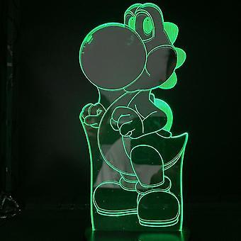 Uusi Super Mario Yoshi 3d Led Night Light Makuuhuone Pöytävalaisin Väri Muuttuu ES9093