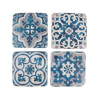Sass &Belle Mediterranean Mosaic Santorini Coasters (Conjunto de 4)