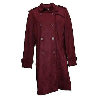 Linea by Louis Dell'Olio Women's Faux-Suede Trench Coat Red A370421