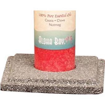 Aloha Bay Chakra Pillar Candle Holder, Lavastone 6 Count