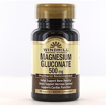 Windmill Health Magnesium Gluconate, 500 mg, 90 Tabs