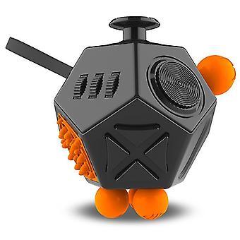 EDC Hand voor autisme ADHD angst relief focus kinderen 12 zijden anti-stress magische stress fidget speelgoed (A