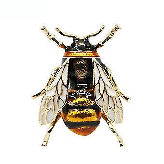 Ladies Brooch Bee Animal Corsage Painted Brooch Pin