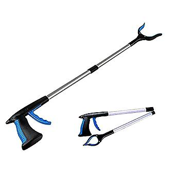 32 Inch Reaching Assist Tool For Trash Claw Pick Up,litter Picker(Blue)
