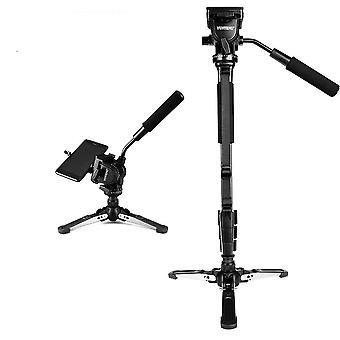 Kamera Monopod + Akışkan Tava Kafası + Canon Nikon ve All Dslr için Unipod Tutucu