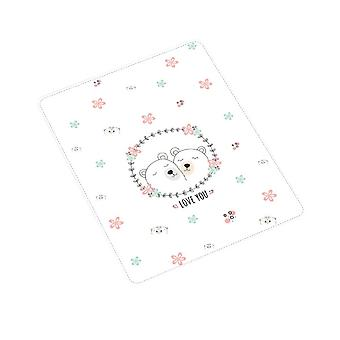 Swotgdoby Bear Garland Printing Pad, Absorbent Bed Sheet, Soft Breathable