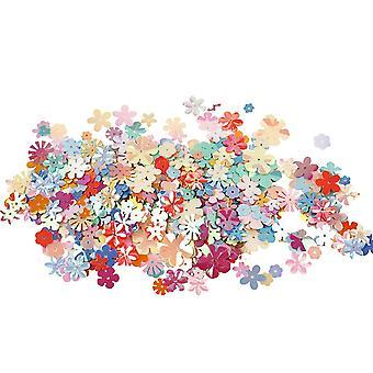 Paillettes en forme de fleurs assorties - 10g
