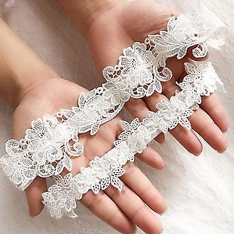Flower Lace Embroidery Wedding Garters
