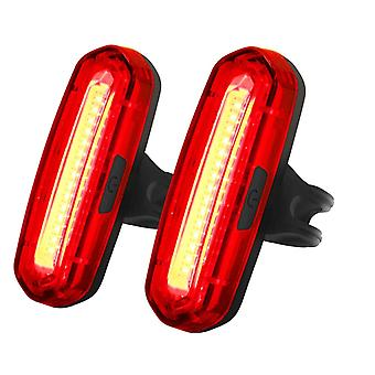 Rear Bike Lights Powerful 100 Lumens, Rechargeable Cycle Lights 6 Modes 2 Pack(Red)