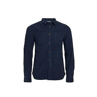 Leonard Camisa de cuerda de manga larga Azul marino