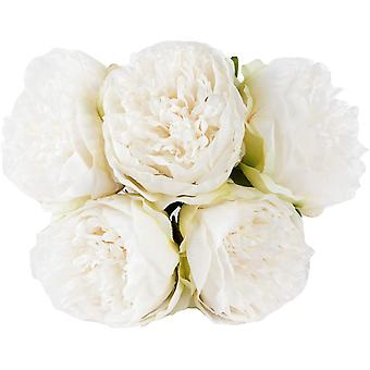 Vintage Peony Artificial Flowers 1pack Flowers Bouquet 5 Heads Peony Fake Flowers