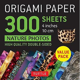 Origami Paper 300 sheets Nature Photo Patterns 4 inch 10 cm