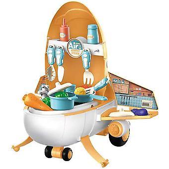 Keuken speelgoed kinderen play house cartoon misvormd vliegtuig model kerstcadeau
