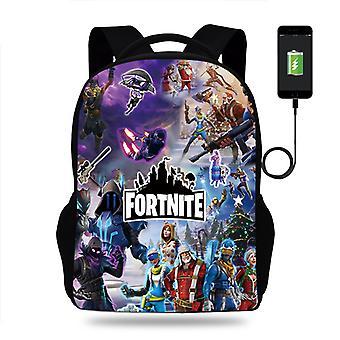 Fortnite Backpack Computer Bag Student School Bag